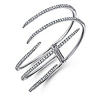 18k White Gold Kaslique Bangle angle 2