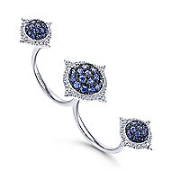 18k White Gold Kaslique Double Ring Ladies' Ring