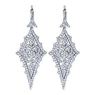 18k White Gold Kaslique Drop Earrings angle 1