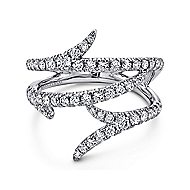 18k White Gold Kaslique Fashion Ladies' Ring angle 1