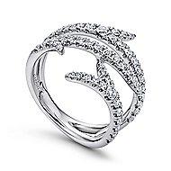 18k White Gold Kaslique Fashion Ladies' Ring angle 3