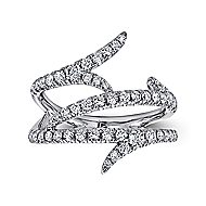 18k White Gold Kaslique Fashion Ladies' Ring