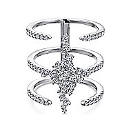 18k White Gold Kaslique Statement Ladies' Ring angle 1