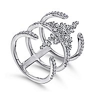 18k White Gold Kaslique Statement Ladies' Ring angle 3