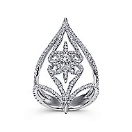 18k White Gold Kaslique Statement Ladies' Ring