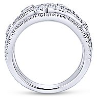 18k White Gold Kaslique Wide Band Ladies' Ring angle 2