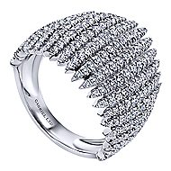 18k White Gold Kaslique Wide Band Ladies' Ring