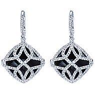 18k White Gold Lusso Color Drop Earrings