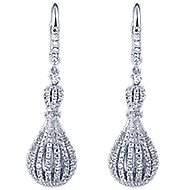 18k White Gold Lusso Drop Earrings