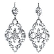 18k White Gold Lusso Drop Earrings