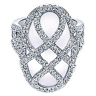 18k White Gold Lusso Fashion Ladies' Ring angle 1