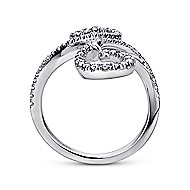 18k White Gold Lusso Fashion Ladies' Ring angle 2