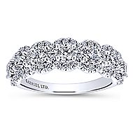 18k White Gold Lusso Fashion Ladies' Ring angle 4