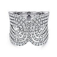 18k White Gold Lusso Fashion Ladies' Ring angle 1