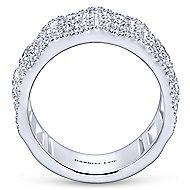 18k White Gold Lusso Fashion Ladies' Ring angle 2