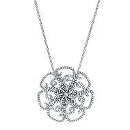 18k White Gold Lusso Fashion Necklace