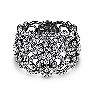 18k White Gold Lusso Wide Band Ladies' Ring