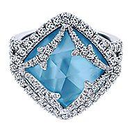 18k White Gold Mediterranean Fashion Ladies' Ring angle 1
