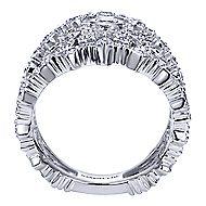 18k White Gold Mediterranean Fashion Ladies' Ring angle 2