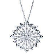 18k White Gold Mediterranean Fashion Necklace angle 1