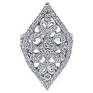 18k White Gold Mediterranean Statement Ladies' Ring angle 1