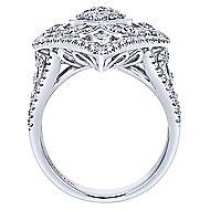 18k White Gold Mediterranean Statement Ladies' Ring angle 2