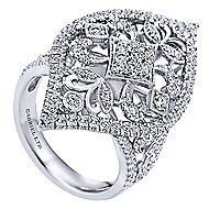 18k White Gold Mediterranean Statement Ladies' Ring angle 3