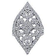 18k White Gold Mediterranean Statement Ladies' Ring angle 4