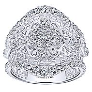 18k White Gold Mediterranean Wide Band Ladies' Ring angle 4