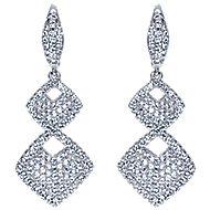 18k White Gold Silk Drop Earrings