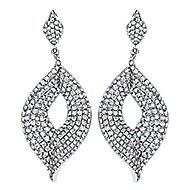 18k White Gold Silk Drop Earrings angle 1