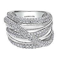 18k White Gold Silk Fashion Ladies' Ring angle 1