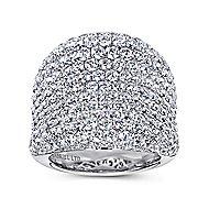 18k White Gold Silk Fashion Ladies' Ring