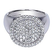 18k White Gold Silk Fashion Ladies' Ring angle 1