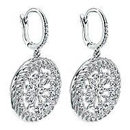 18k White Gold Victorian Drop Earrings