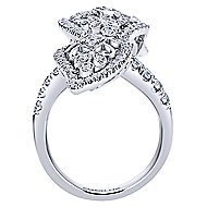 18k White Gold Victorian Statement Ladies' Ring angle 2