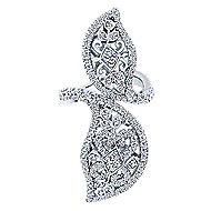 18k White Gold Victorian Statement Ladies' Ring angle 4