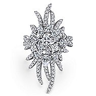 18k White Gold Waterfall Fashion Ladies' Ring angle 1