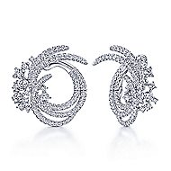 18k White Gold Waterfall Stud Earrings