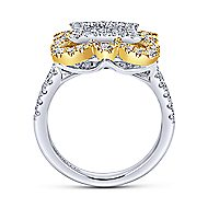 18k Yellow And White Gold Mediterranean Fashion Ladies' Ring angle 2
