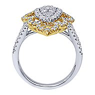 18k Yellow And White Gold Mediterranean Statement Ladies' Ring angle 2