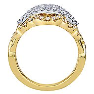 18k Yellow And White Gold Victorian Fashion Ladies' Ring angle 2