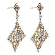 18k Yellow Gold Mediterranean Drop Earrings angle 2