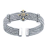 3 Or More Metals Mixed Steel My Heart Bangle angle 1
