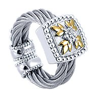 3 Or More Metals Mixed Steel My Heart Fashion Ladies' Ring angle 3