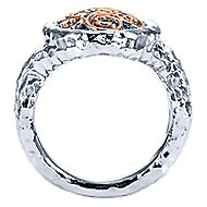 925 Silver And 18k Rose Gold Mediterranean Fashion Ladies' Ring angle 2