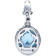 925 Silver And 18k Yellow Gold Mediterranean Fashion Pendant angle 2