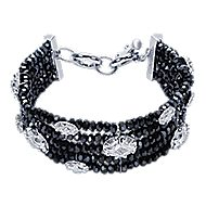 925 Silver And Stainless Steel Infinite Gems Chain Bracelet angle 1