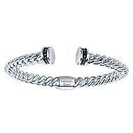925 Silver And Stainless Steel Jubilee Bangle angle 1