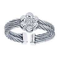 925 Silver And Stainless Steel Steel My Heart Fashion Ladies' Ring angle 5
